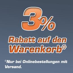 AKTION: 3% Rabatt auf Ihren Warenkorb - Nur bei Onlinebestellungen mit Versand -